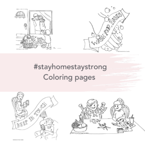 #stayhomestaystrong Coloring pages
