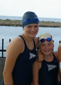 Brooke w/ Lauryn, SYC swim team - Elizabeth, Swim team Mom