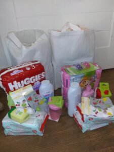 2 Brooke's Kindness Bags for the ifacts.